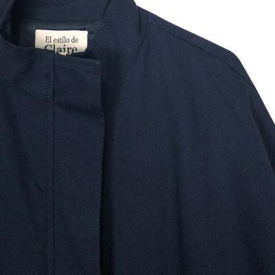 color anorak jumper navy